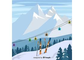 平面滑雪站插图_3457324