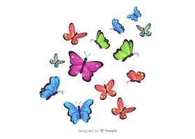 平面蝴蝶背景_3877679
