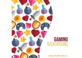 平面视频游戏元素的背景_936901