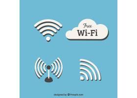 平面设计中的WiFi符号集_1118379