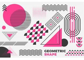 平面设计中的几何模型背景_6148300