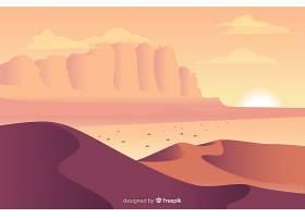 平面设计中的沙漠景观背景_5580100
