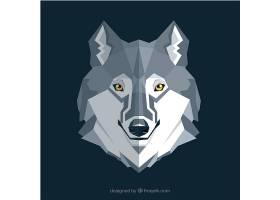 平面设计中的狼背景_1167662