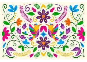 平面设计五颜六色的墨西哥背景_6572281