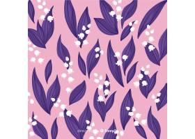 平面设计五颜六色的花卉背景_4805163