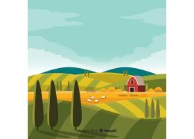 平面设计农场景观背景_4751953