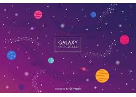 平面设计的可爱星系背景_2859828