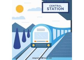 平面设计背景下的火车站_1118911