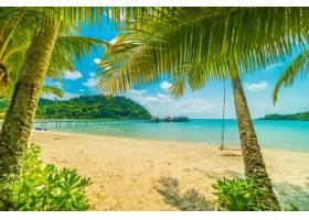 美丽的热带海滩和大海_4123375