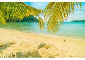 美丽的热带海滩和大海_4123394