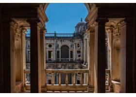 葡萄牙阳光和蓝天下的基督修道院_9927495