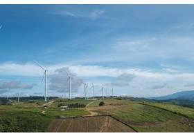 泰国的风车和蓝天_4692144