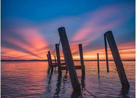 佛罗里达东部海滩上令人叹为观止的日落风光_10542743