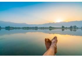 印度克什米尔达尔湖上的日出_1254532
