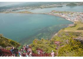 韩国济州岛10月12日济州岛的松山日出峰_1015101