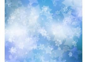 飘落的雪花和星星的圣诞背景_11247016