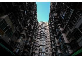 香港住宅楼的低角度拍摄_10303682