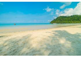 美丽的热带海滩和大海_4123138