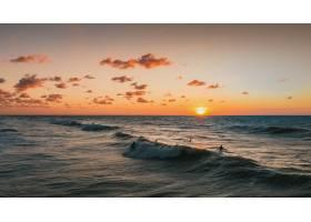 荷兰多姆堡的日落和海洋美景_9077403