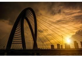 夕阳下的老铁桥_1284109