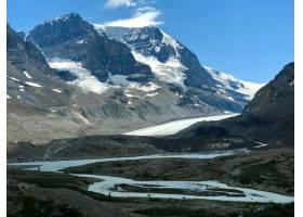 加拿大阿萨巴斯卡冰川白雪覆盖的美景_9655397