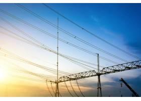 变电站设备密集线路密集蓝色色调图_1175836