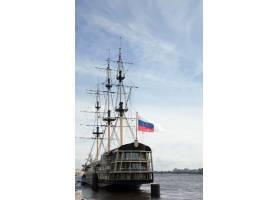 港口停靠的古董船_1186783
