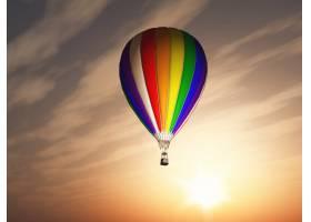 彩色热气球_879661