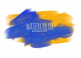 黄色和蓝色的水彩画纹理_12686006