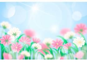 蓝天逼真模糊的春天背景_12201233
