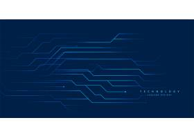 蓝色工艺电路线数字背景设计_10016591