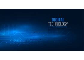 蓝色数字技术概念配电路线网图_6080521