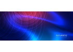 未来主义蓝色科技风格背景_4250326