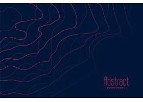 深蓝色背景带有抽象的粉红色线条_5548480