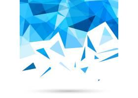 带三角形的蓝色多边形背景_1051282