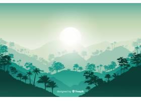 平面设计中的热带森林景观_5476977