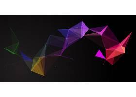 彩虹色抽象低垂彩旗设计_9819750
