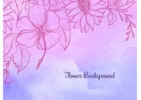手绘花卉设计彩色水彩背景_10308584