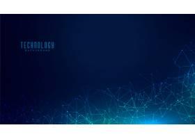 技术多边形网格数字概念背景设计_6512253