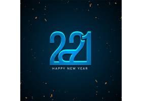 2021年新年快乐光滑的蓝色背景_11642622