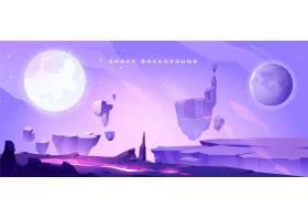 以外星人星球景观为背景的空间背景_7058936