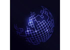 以抽象的蓝色地球为背景的未来主义背景_10547245