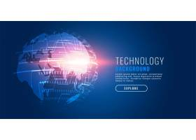全球技术数字地球未来背景_7151956