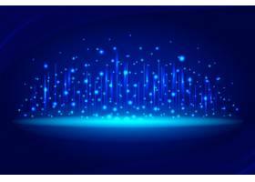 蓝色网络连接背景_12980529