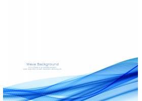 装饰性现代蓝波设计背景矢量_10337058