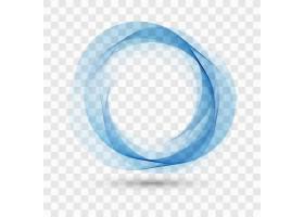 透明背景上的蓝色波浪形_1055138