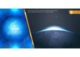 逼真的空间五颜六色的构图有着美丽的蓝光_12909829