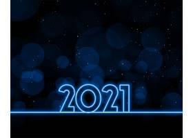 霓虹灯风格喜迎2021年背景设计_11563395