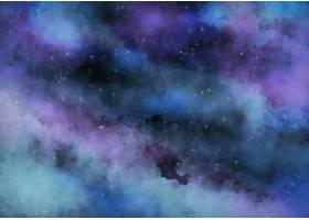 青绿色水彩星系背景_11560110
