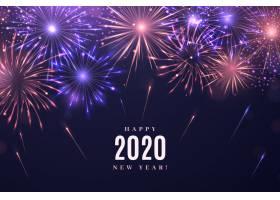 烟花爆竹2020年新年背景_6144773